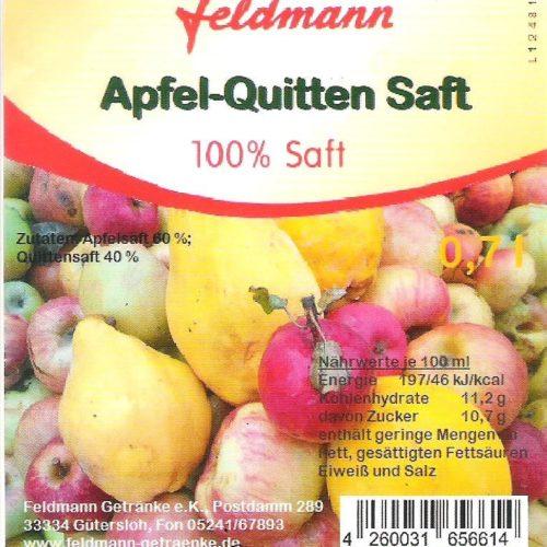 Apfel-Quitten-Saft